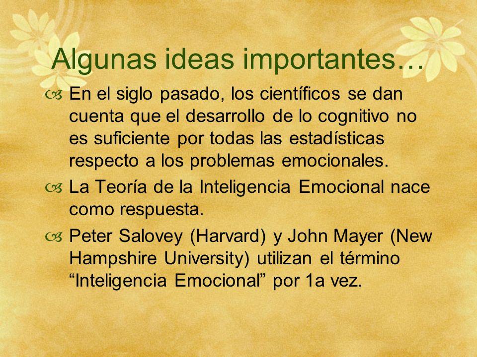 1.- Autoconocimiento (Ser consciente de nuestras emociones) base La base de la IE es el conocimiento de las emociones.