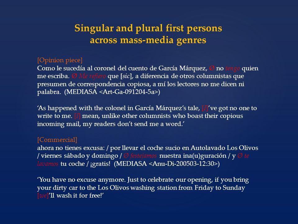[Opinion piece] Como le sucedía al coronel del cuento de García Márquez, Ø no tengo quien me escriba.