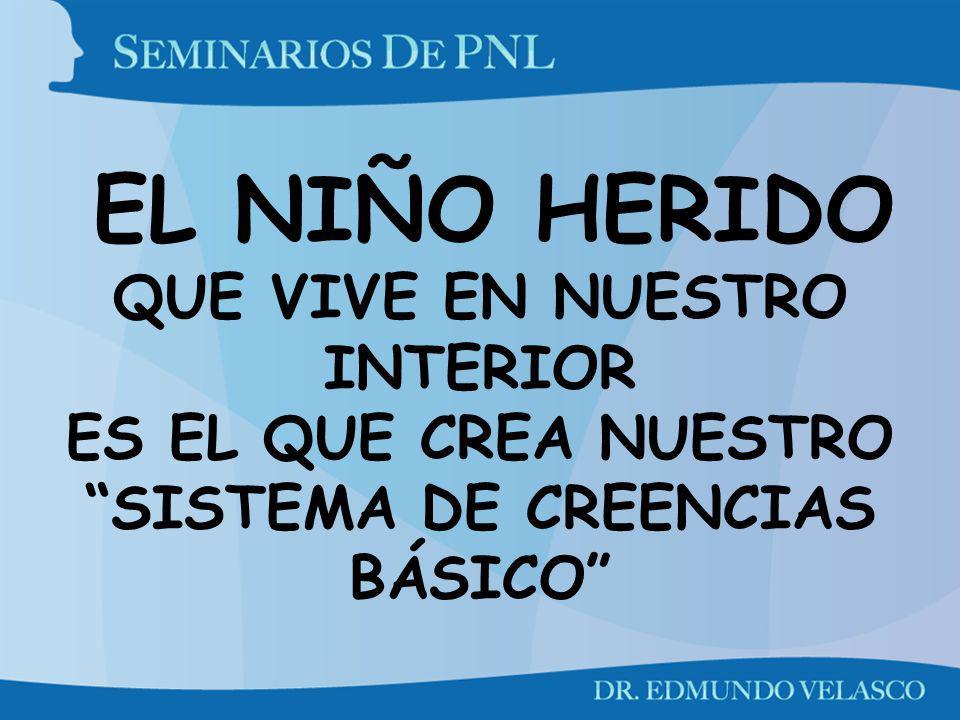 EL NIÑO HERIDO QUE VIVE EN NUESTRO INTERIOR ES EL QUE CREA NUESTRO SISTEMA DE CREENCIAS BÁSICO