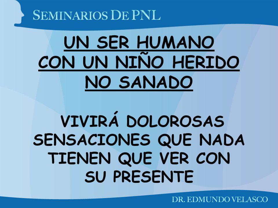 UN SER HUMANO CON UN NIÑO HERIDO NO SANADO VIVIRÁ DOLOROSAS SENSACIONES QUE NADA TIENEN QUE VER CON SU PRESENTE