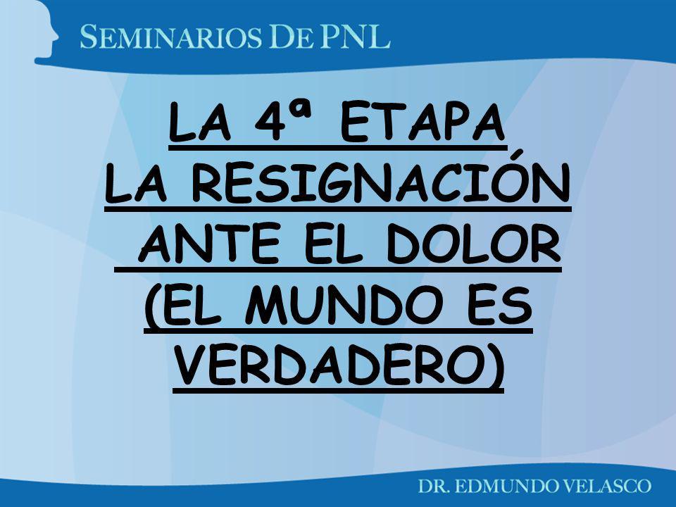 LA 4ª ETAPA LA RESIGNACIÓN ANTE EL DOLOR (EL MUNDO ES VERDADERO)