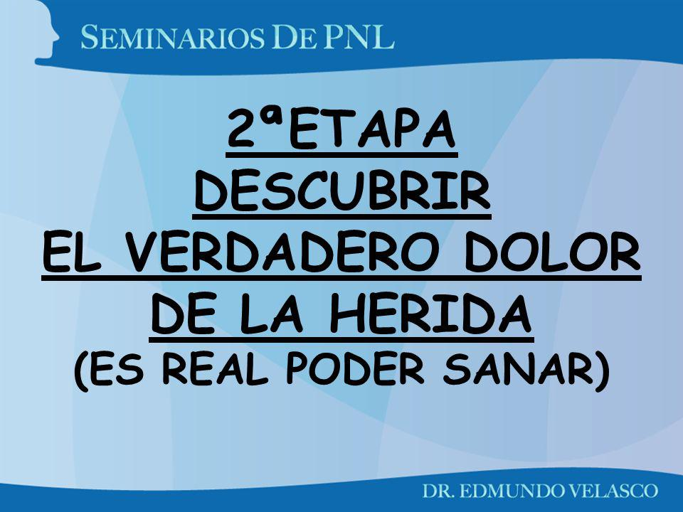 2ªETAPA DESCUBRIR EL VERDADERO DOLOR DE LA HERIDA (ES REAL PODER SANAR)