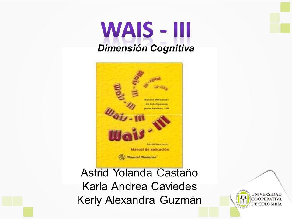 Antecedentes Generales del WAIS III Sujetos: Muestra de 2450 sujetos considerando las siguientes características.