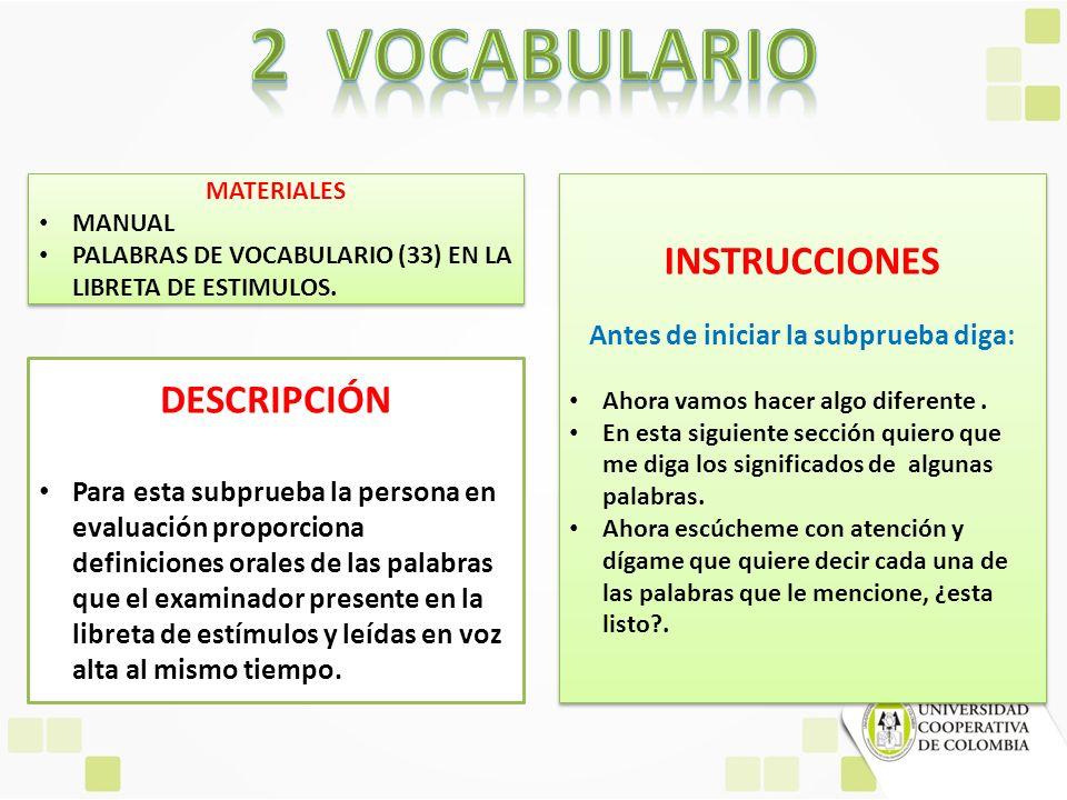 MATERIALES MANUAL PALABRAS DE VOCABULARIO (33) EN LA LIBRETA DE ESTIMULOS. MATERIALES MANUAL PALABRAS DE VOCABULARIO (33) EN LA LIBRETA DE ESTIMULOS.