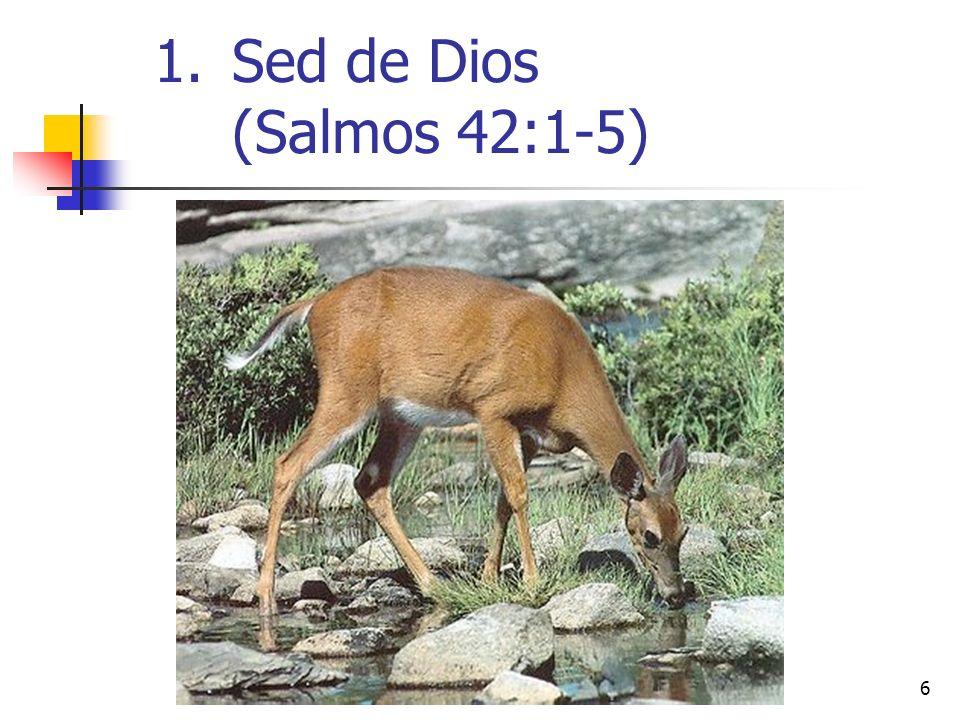 6 1.Sed de Dios (Salmos 42:1-5)