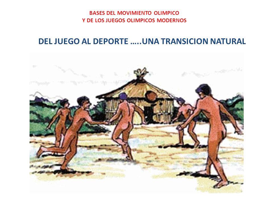 DEL JUEGO AL DEPORTE …..UNA TRANSICION NATURAL BASES DEL MOVIMIENTO OLIMPICO Y DE LOS JUEGOS OLIMPICOS MODERNOS