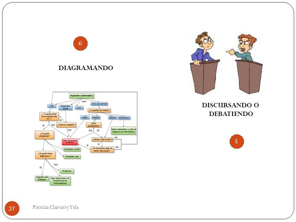 DISCURSANDO O DEBATIENDO DIAGRAMANDO 27 Patricia Chávarry Ysla 6 5