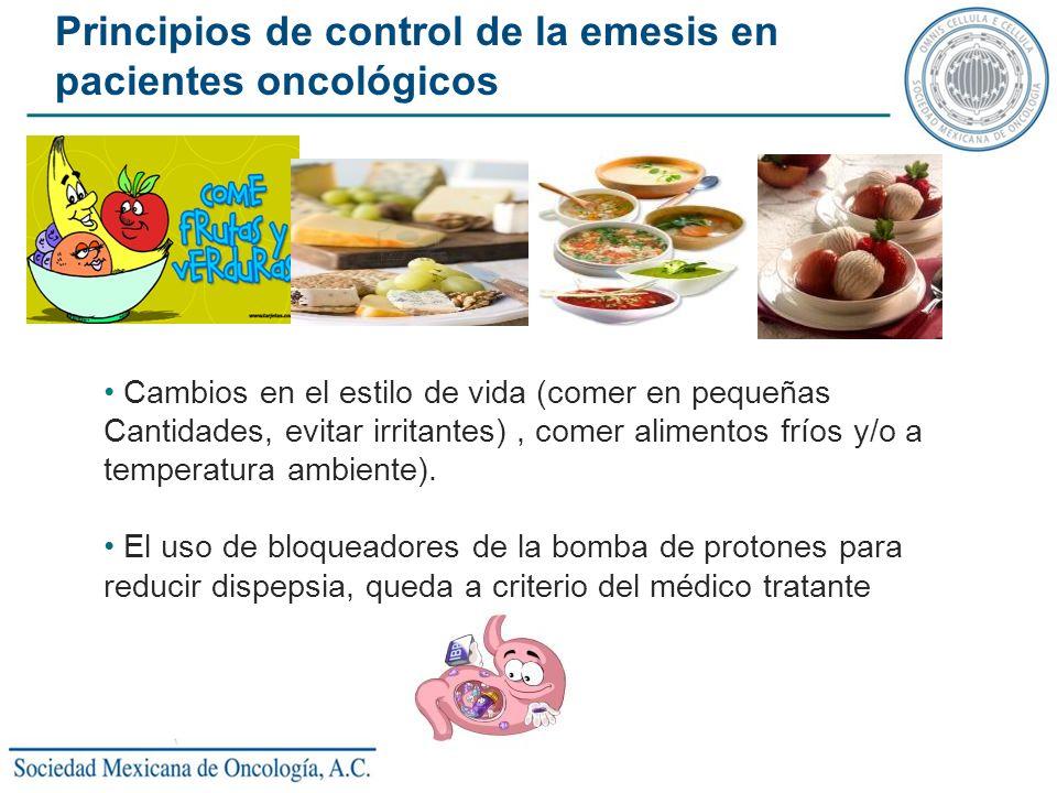 Cambios en el estilo de vida (comer en pequeñas Cantidades, evitar irritantes), comer alimentos fríos y/o a temperatura ambiente). El uso de bloqueado