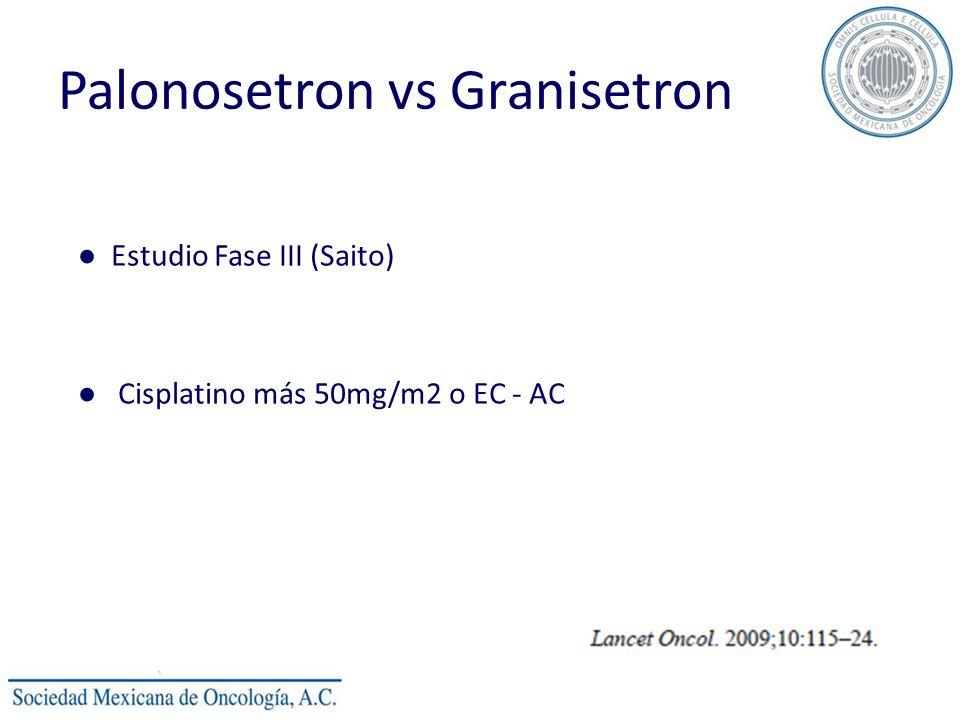 Palonosetron vs Granisetron Estudio Fase III (Saito) Cisplatino más 50mg/m2 o EC - AC