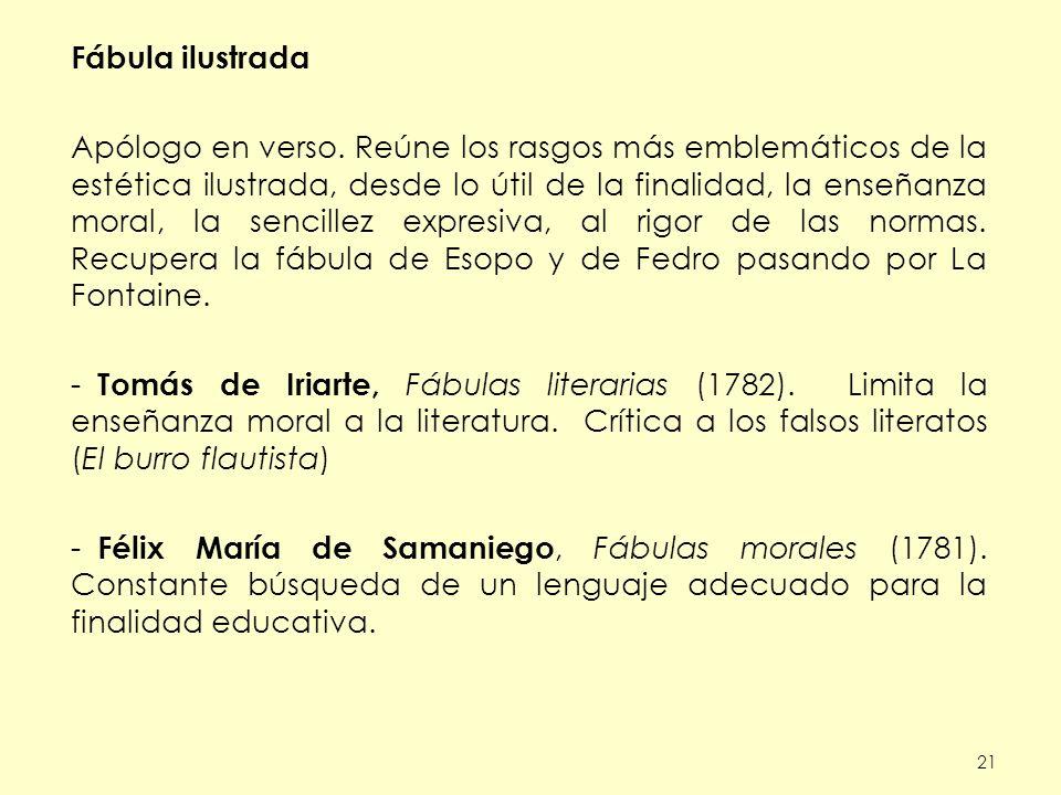 21 Fábula ilustrada Apólogo en verso.
