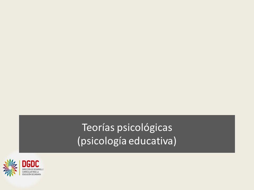 Teorías psicológicas (psicología educativa)