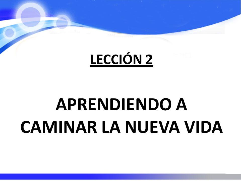 LECCIÓN 2 APRENDIENDO A CAMINAR LA NUEVA VIDA