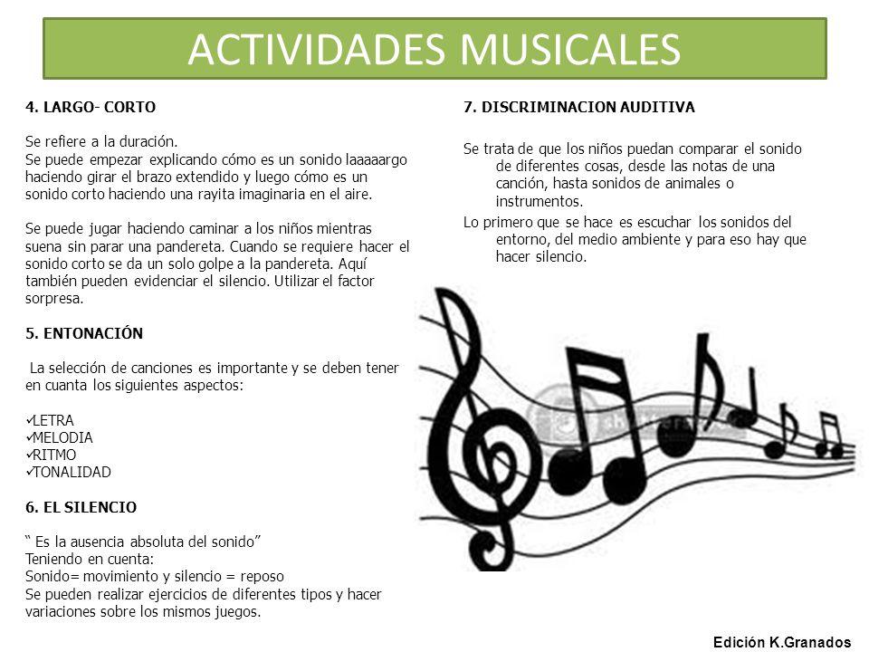 ACTIVIDADES MUSICALES Edición K.Granados 7.