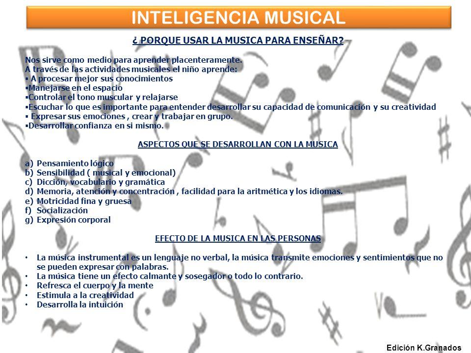 INTELIGENCIA MUSICAL ¿ PORQUE USAR LA MUSICA PARA ENSEÑAR.
