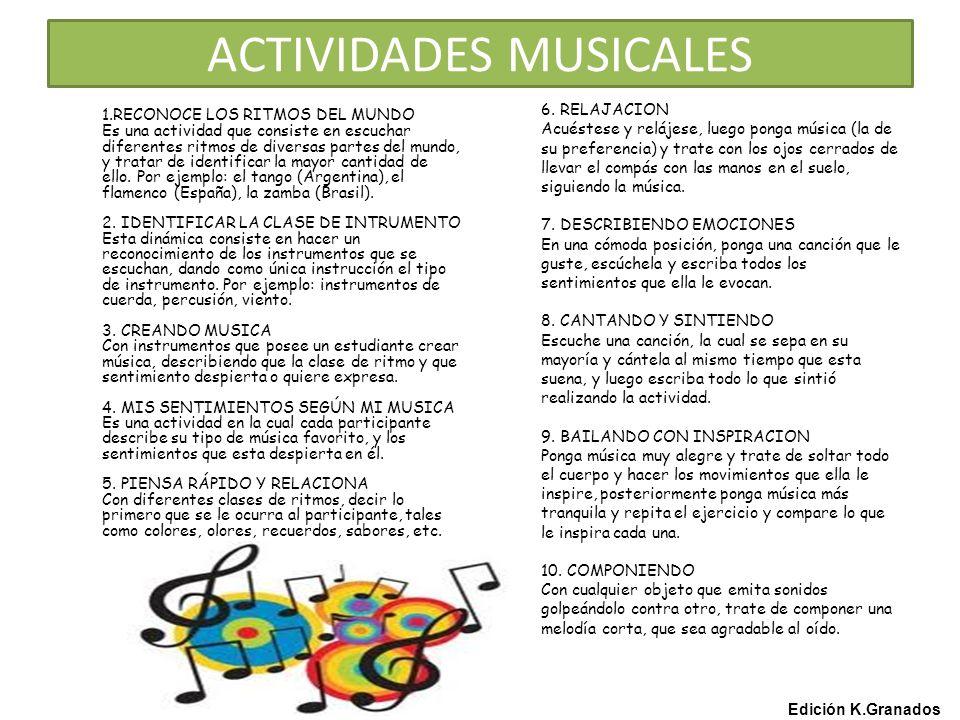ACTIVIDADES MUSICALES 6.