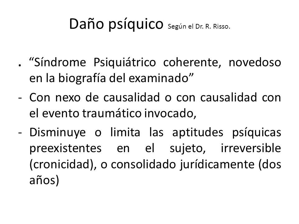 Daño psíquico Según el Dr.R. Risso..