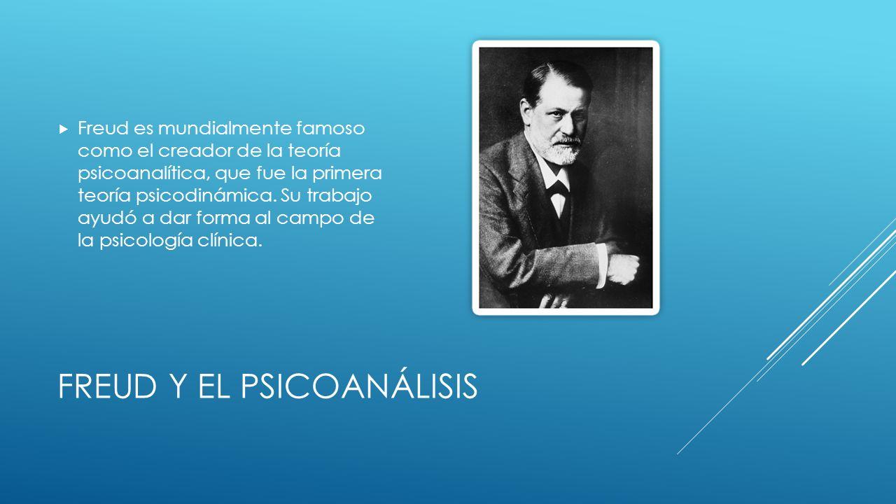 FREUD Y EL PSICOANÁLISIS Freud es mundialmente famoso como el creador de la teoría psicoanalítica, que fue la primera teoría psicodinámica.