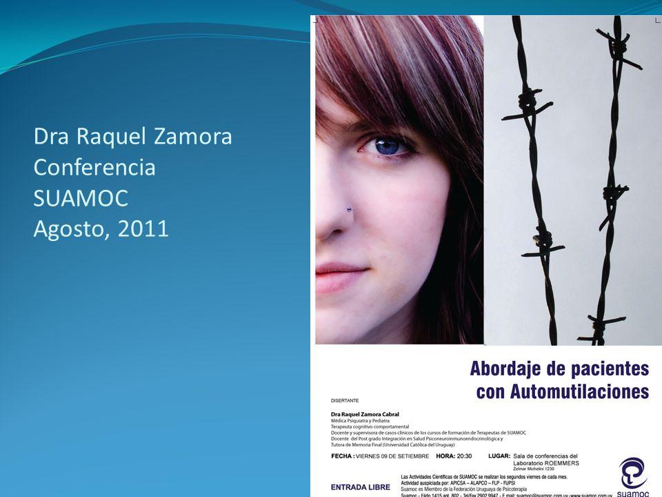 Dra Raquel Zamora Conferencia SUAMOC Agosto, 2011