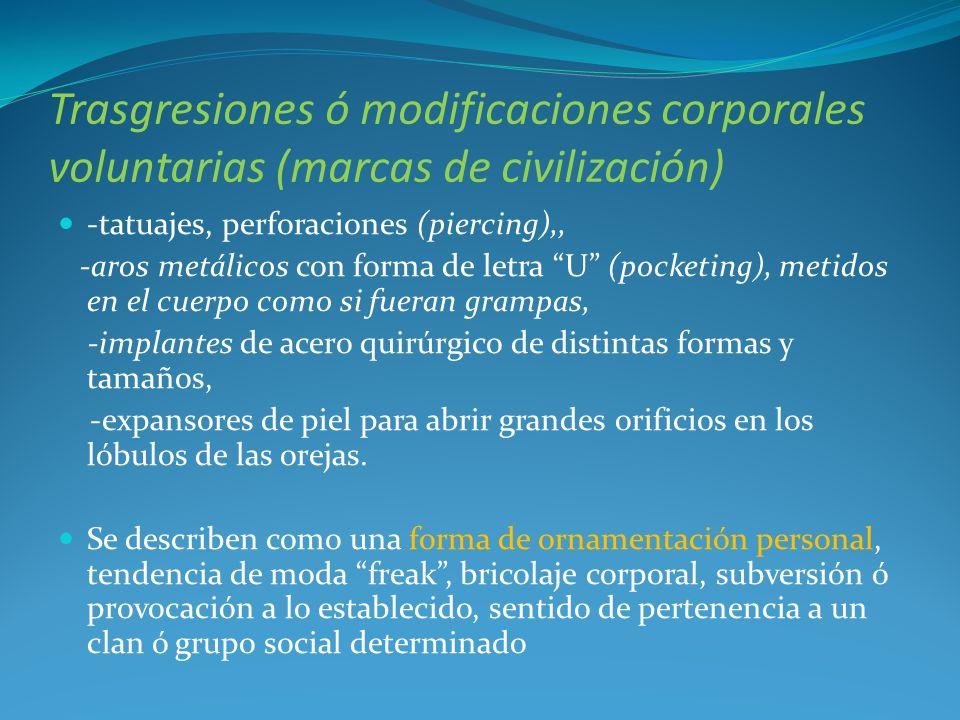 En la presentación excluiremos los tipos de mutilaciones que acabamos de mostrar porque no entrar en la definición que usaremos de automutilación.