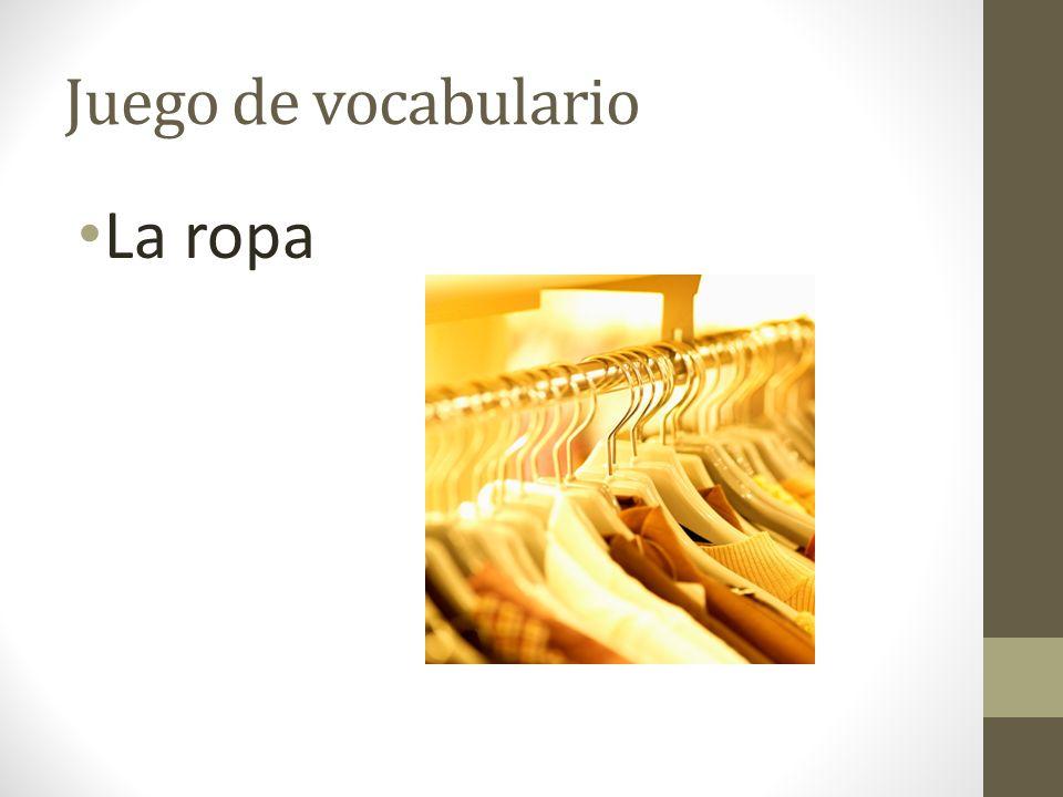 Juego de vocabulario La ropa