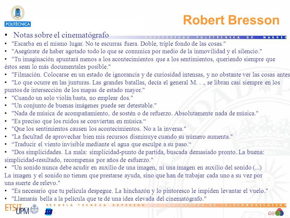 Robert Bresson Notas sobre el cinematógrafo