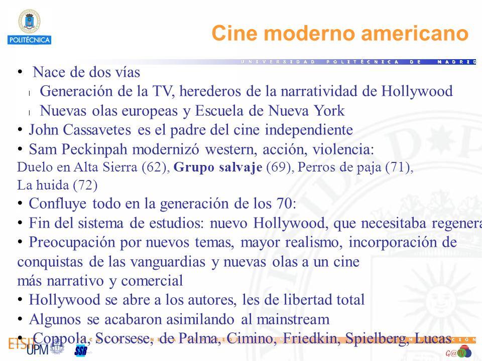 Nace de dos vías l Generación de la TV, herederos de la narratividad de Hollywood l Nuevas olas europeas y Escuela de Nueva York John Cassavetes es el