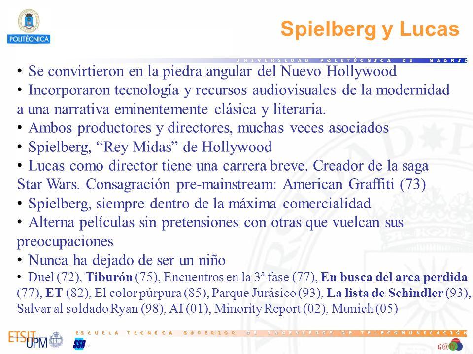 Spielberg y Lucas Se convirtieron en la piedra angular del Nuevo Hollywood Incorporaron tecnología y recursos audiovisuales de la modernidad a una nar