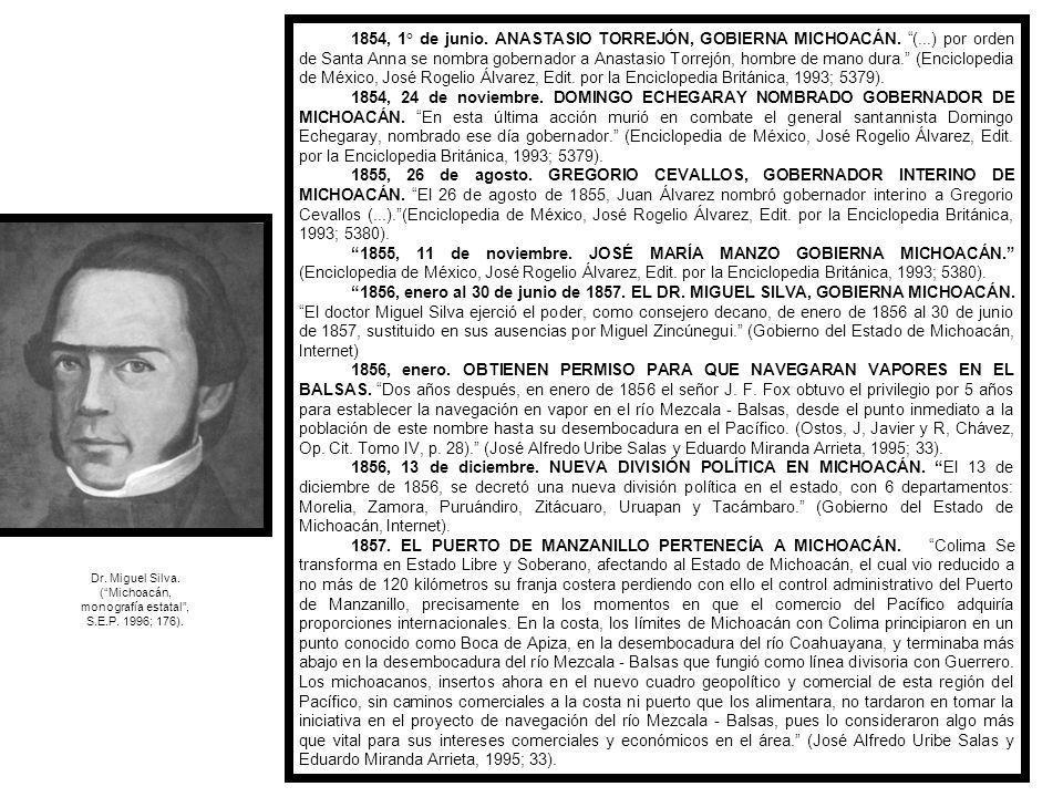 1852, julio.DON MELCHOR OCAMPO ATENTO A LA EXPLOTACIÓN DEL RÍO DE LAS BALSAS.
