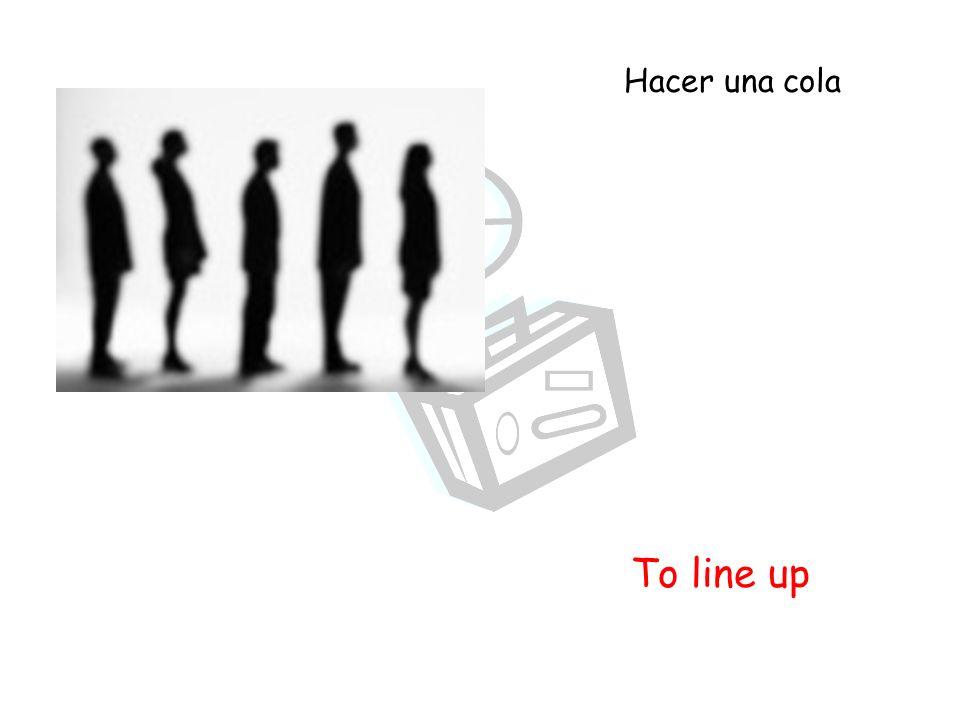 To line up Hacer una cola