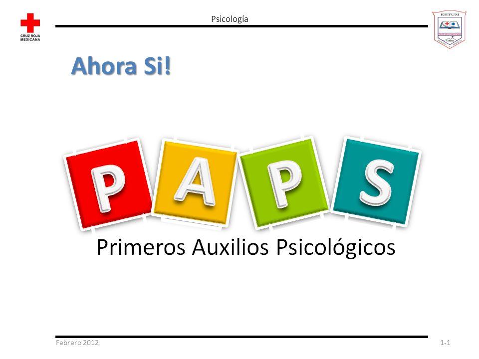 Febrero 20121-1 Psicología Ahora Si!