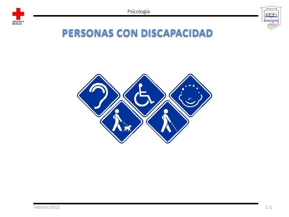 Febrero 20121-1 Psicología PERSONAS CON DISCAPACIDAD