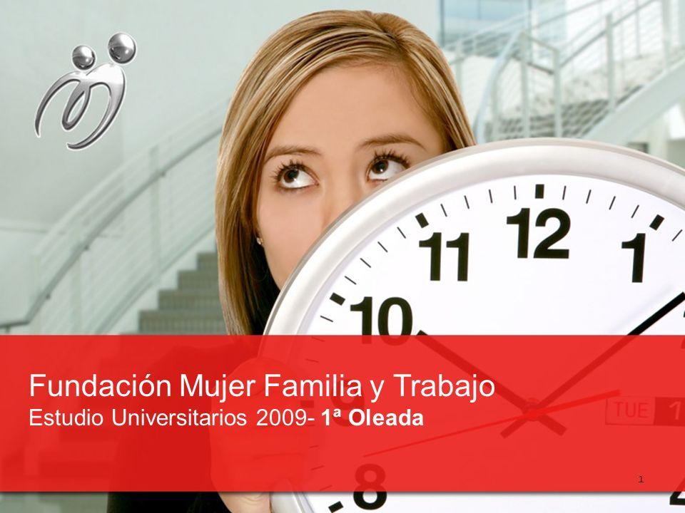 Fundación Mujer Familia y Trabajo Estudio Universitarios 2009- 1ª Oleada 1