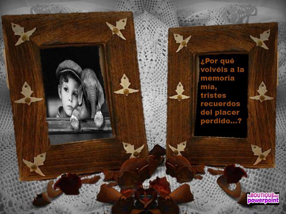 ¿Por qué volvéis a la memoria mía, tristes recuerdos del placer perdido...?