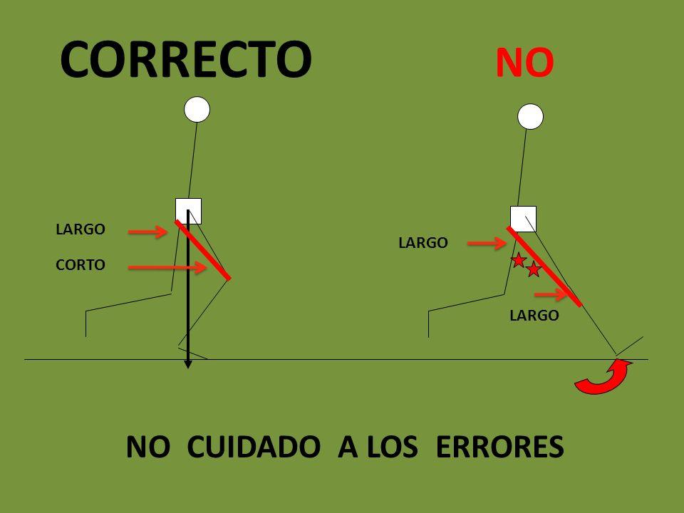 NO CUIDADO A LOS ERRORES NO CORRECTO LARGO CORTO