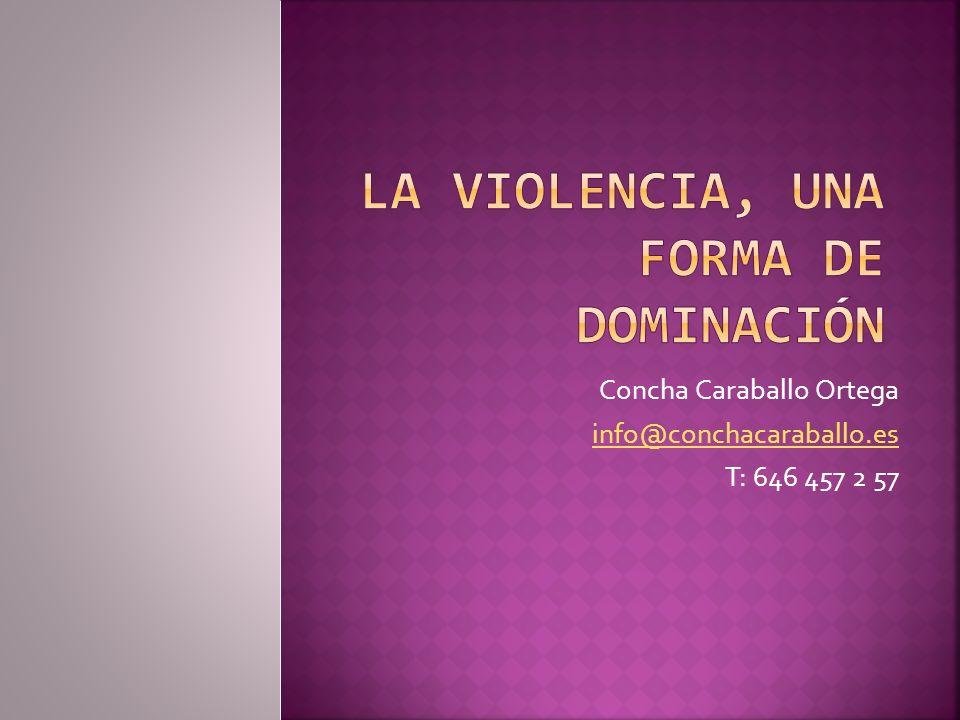 Concha Caraballo Ortega info@conchacaraballo.es T: 646 457 2 57