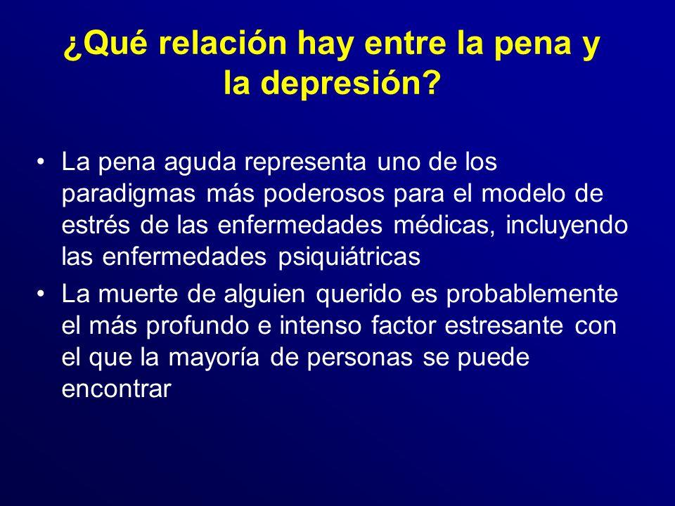 ¿Qué relación hay entre la pena y la depresión.