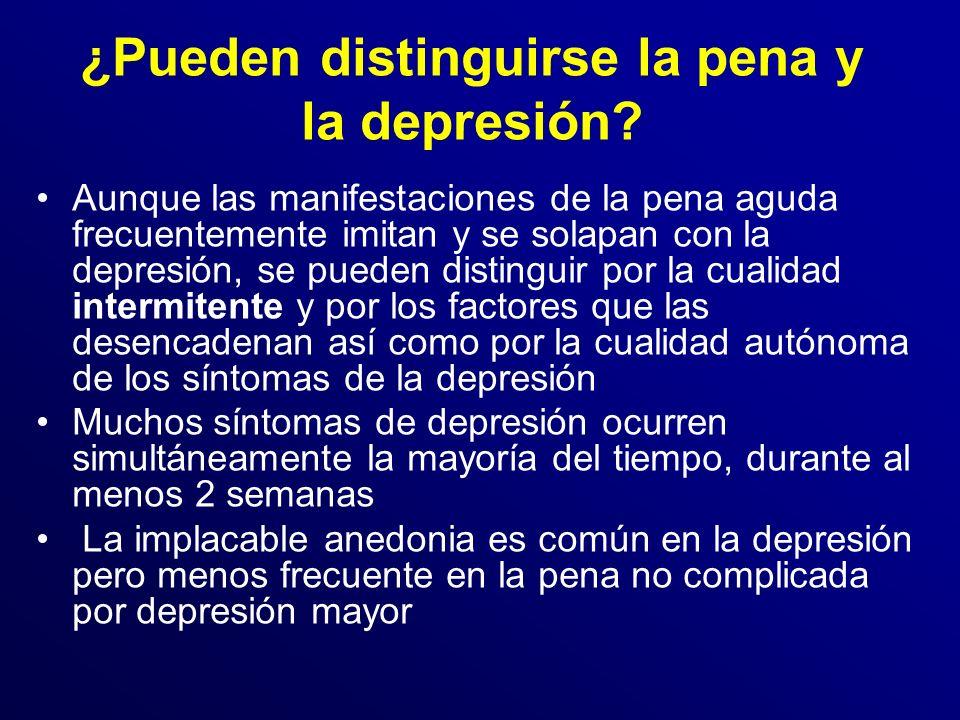 ¿Pueden distinguirse la pena y la depresión.