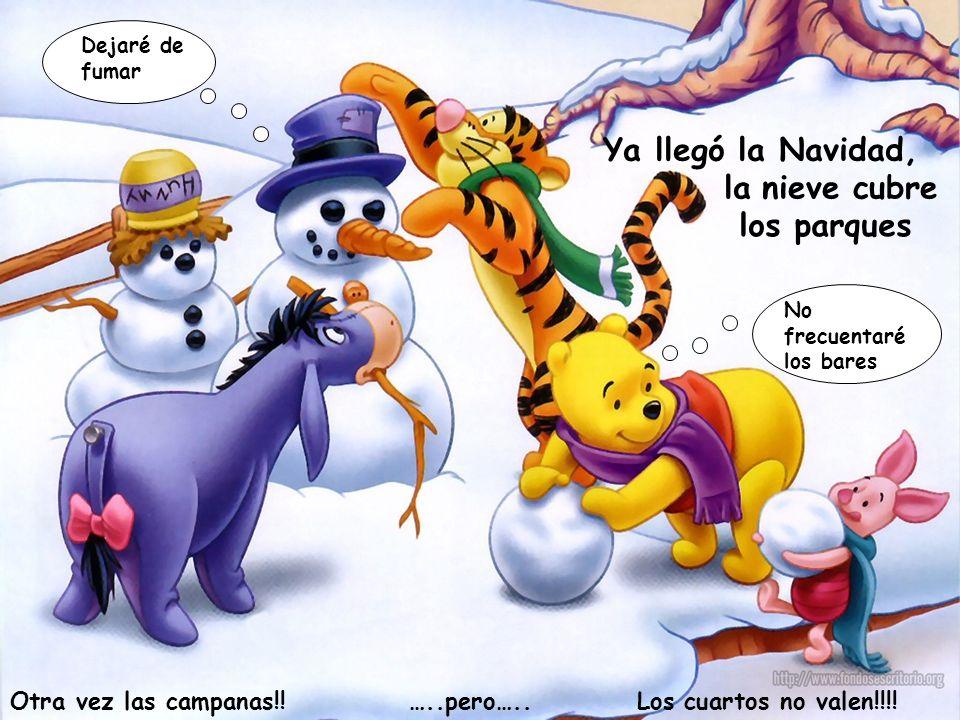 Ya llegó la Navidad, lanieve cubre los parques Otra vez las campanas!.