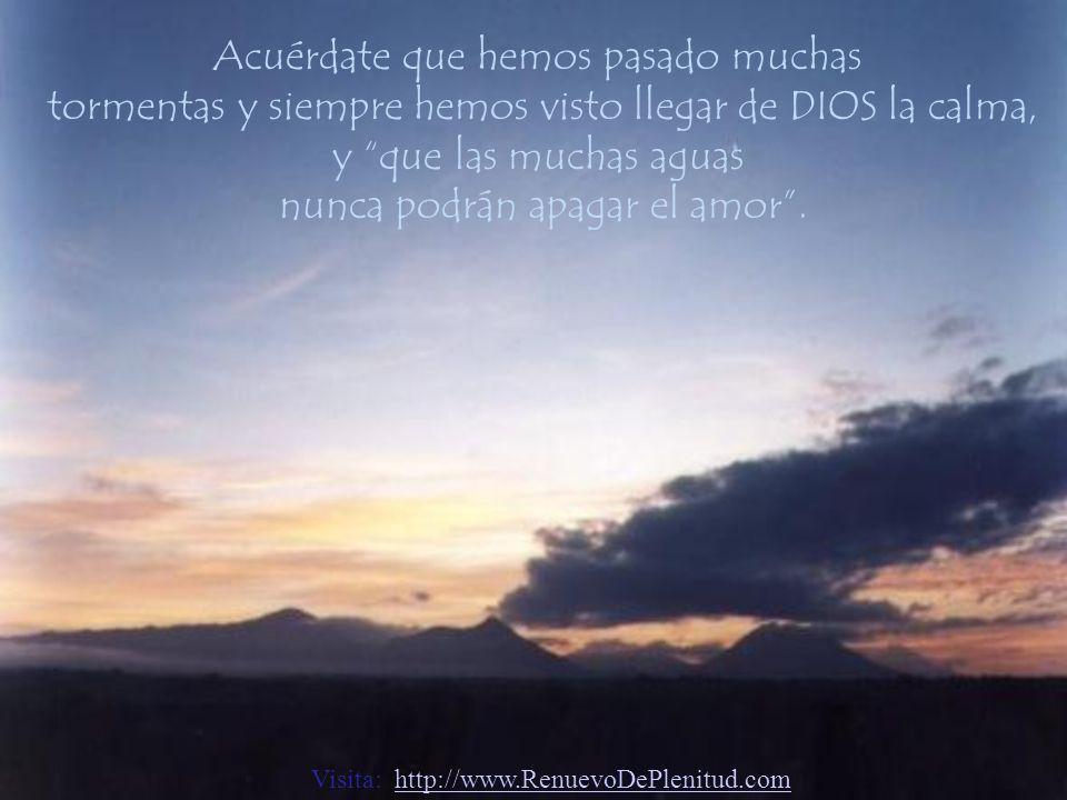 Disfruta nuevamente de la paz que ya has conocido, piensa y vive el bien...