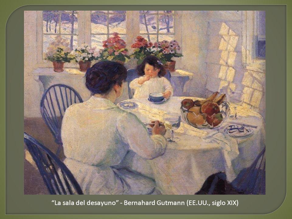 La comida de los niños - Marc Louise Benjamin Vautier (Alemania, siglo XIX)