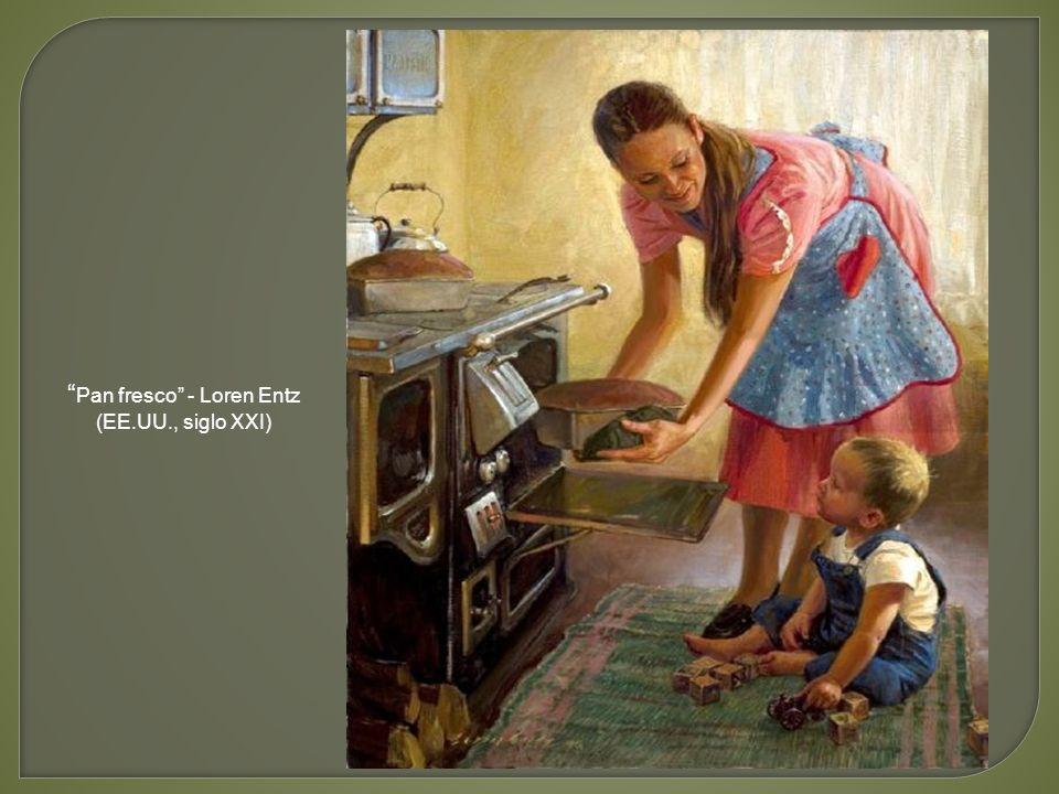 Preparando la mesa - Michael Hancher (Dinamarca, siglo XIX)