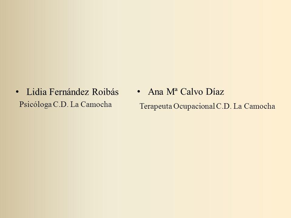 Lidia Fernández Roibás Psicóloga C.D. La Camocha Ana Mª Calvo Díaz Terapeuta Ocupacional C.D. La Camocha