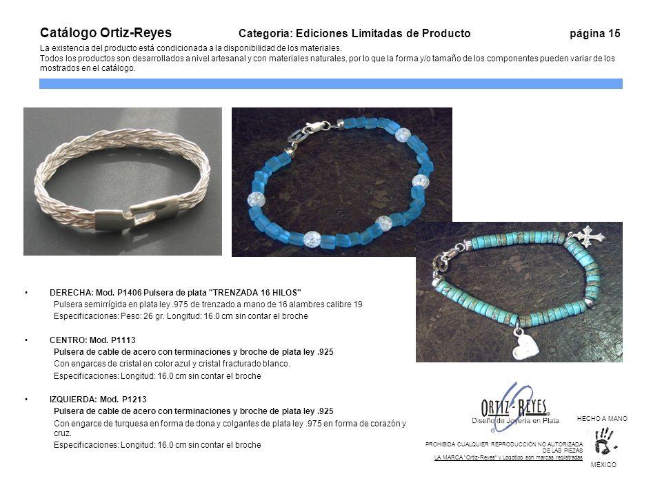 DERECHA: Mod. P1406 Pulsera de plata