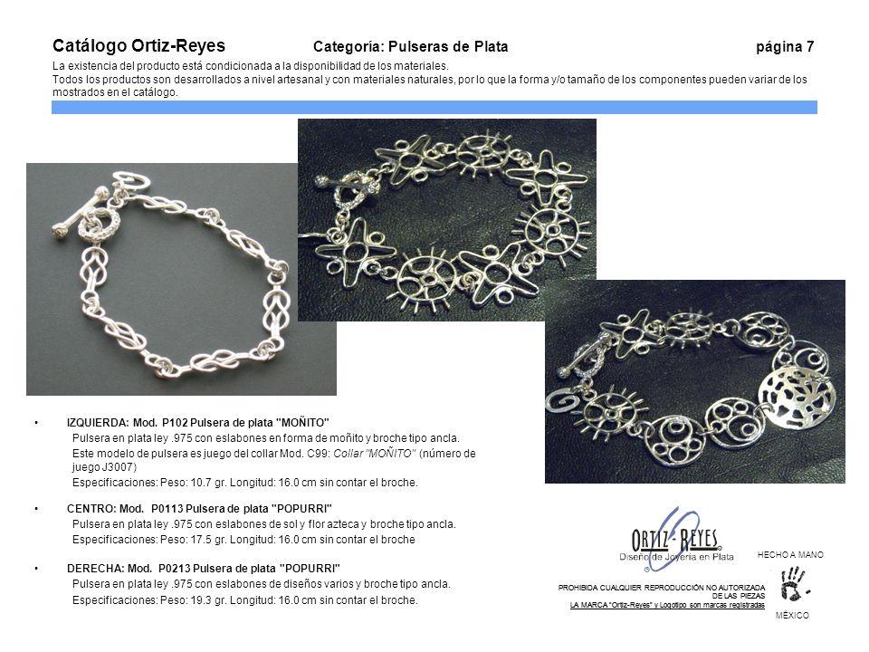 IZQUIERDA: Mod. P102 Pulsera de plata