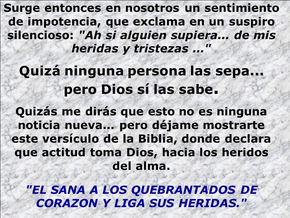 Muchas personas por impotencia frente a las heridas sufridas en el pasado, se rebelan contra Dios, cerrándole la puerta de su corazón.
