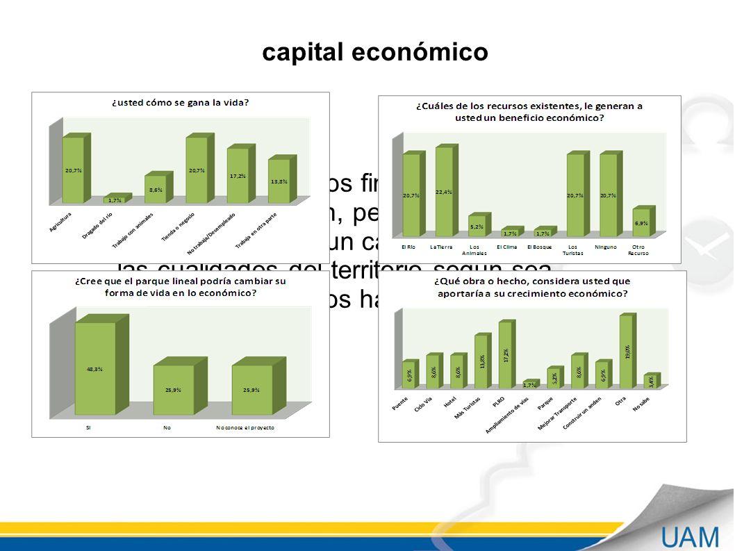 paquete de recursos financieros para invertir en la región, pero también se puede considerar un capital derivado de las cualidades del territorio según sea aprovechado por los habitantes del mismo capital económico