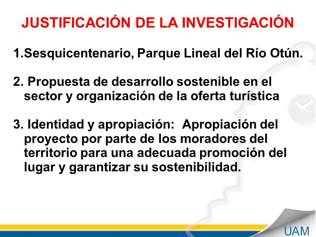 JUSTIFICACIÓN DE LA INVESTIGACIÓN 1.Sesquicentenario, Parque Lineal del Río Otún.