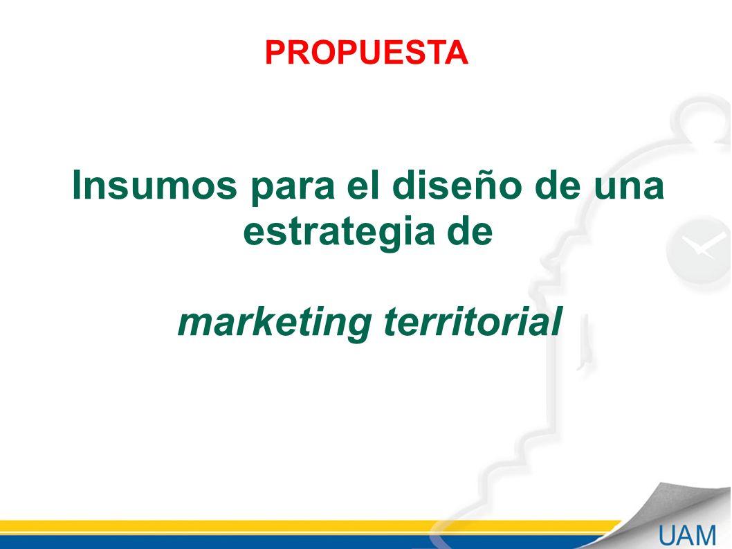 PROPUESTA Insumos para el diseño de una estrategia de marketing territorial