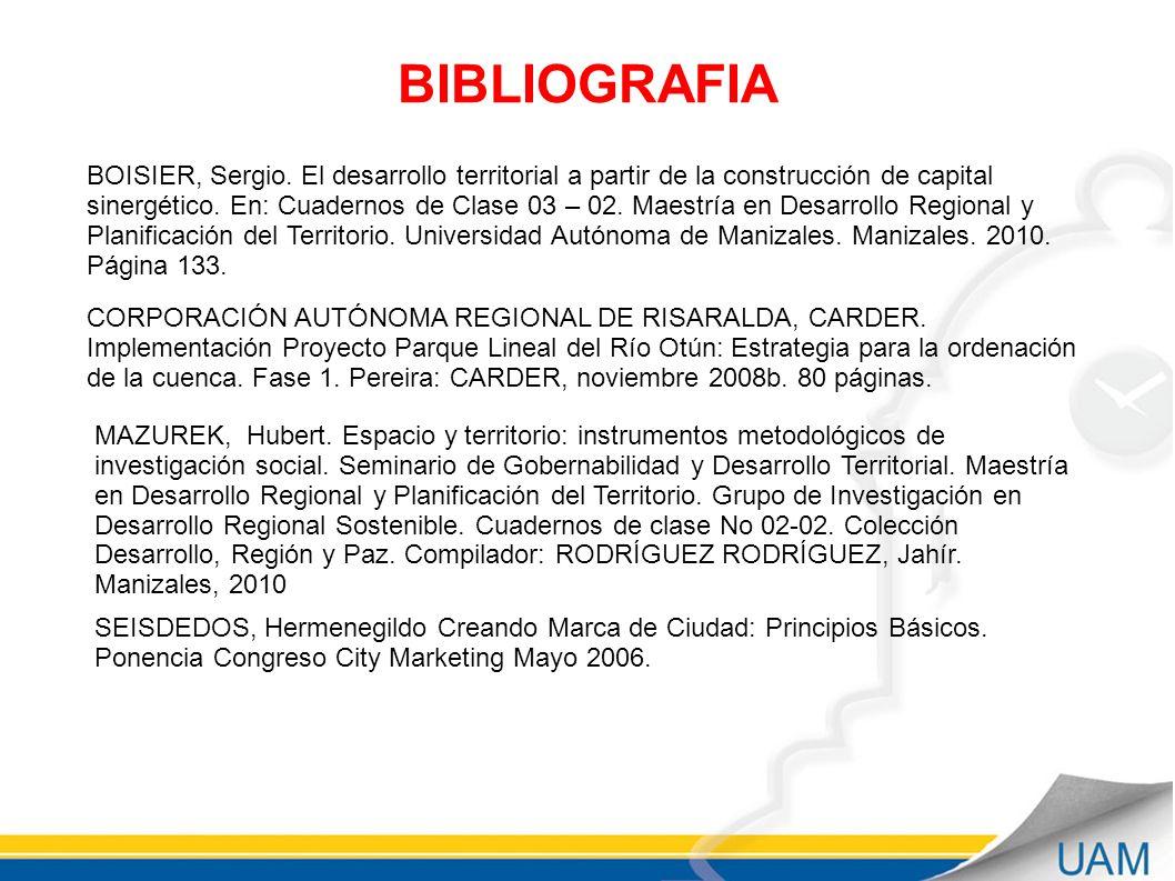 BIBLIOGRAFIA BOISIER, Sergio.