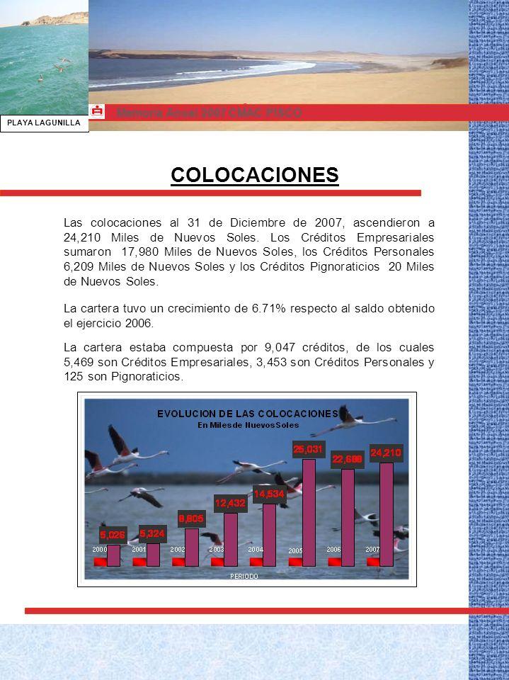 BALANCE GENERAL AL 31 DE DICIEMBRE 2007 Memoria Anual 2007 CMAC PISCO
